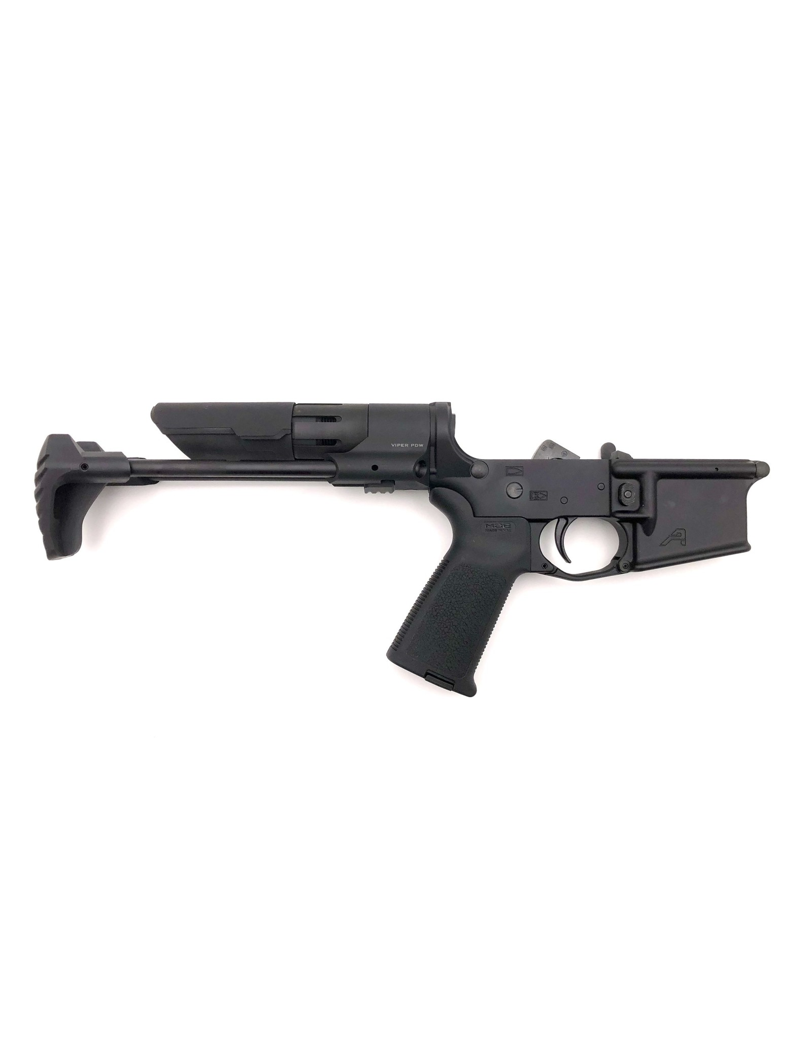 AR15 Complete Lower, PDW  - Anodized Black