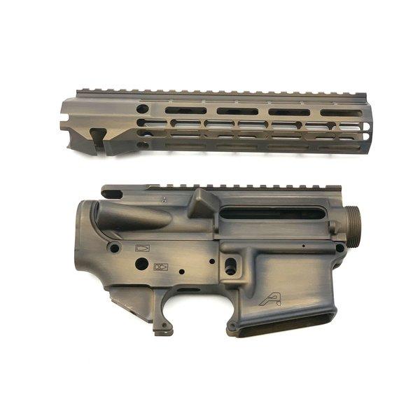 "Sam Diego Tactical AR15 Builder Set - Battle Worn Burnt Bronze - 9"" R-One M-Lok HG"