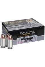 IN STORE ONLY - Sig Sauer 45 ACP Auto Ammo 185 Grain V-Crown Jacketed Hollow Point