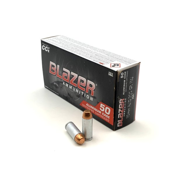 IN STORE ONLY - CCI Blazer 10mm AUTO Ammo 200 Grain Full Metal Jacket