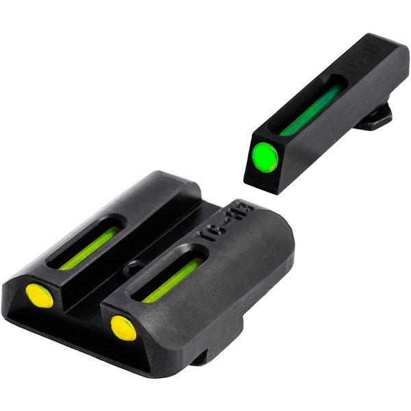 TruGlo TruGlo TFO Glock Low Set (G19/G17/+), Tritium+Fiber Optic - Yellow/Green