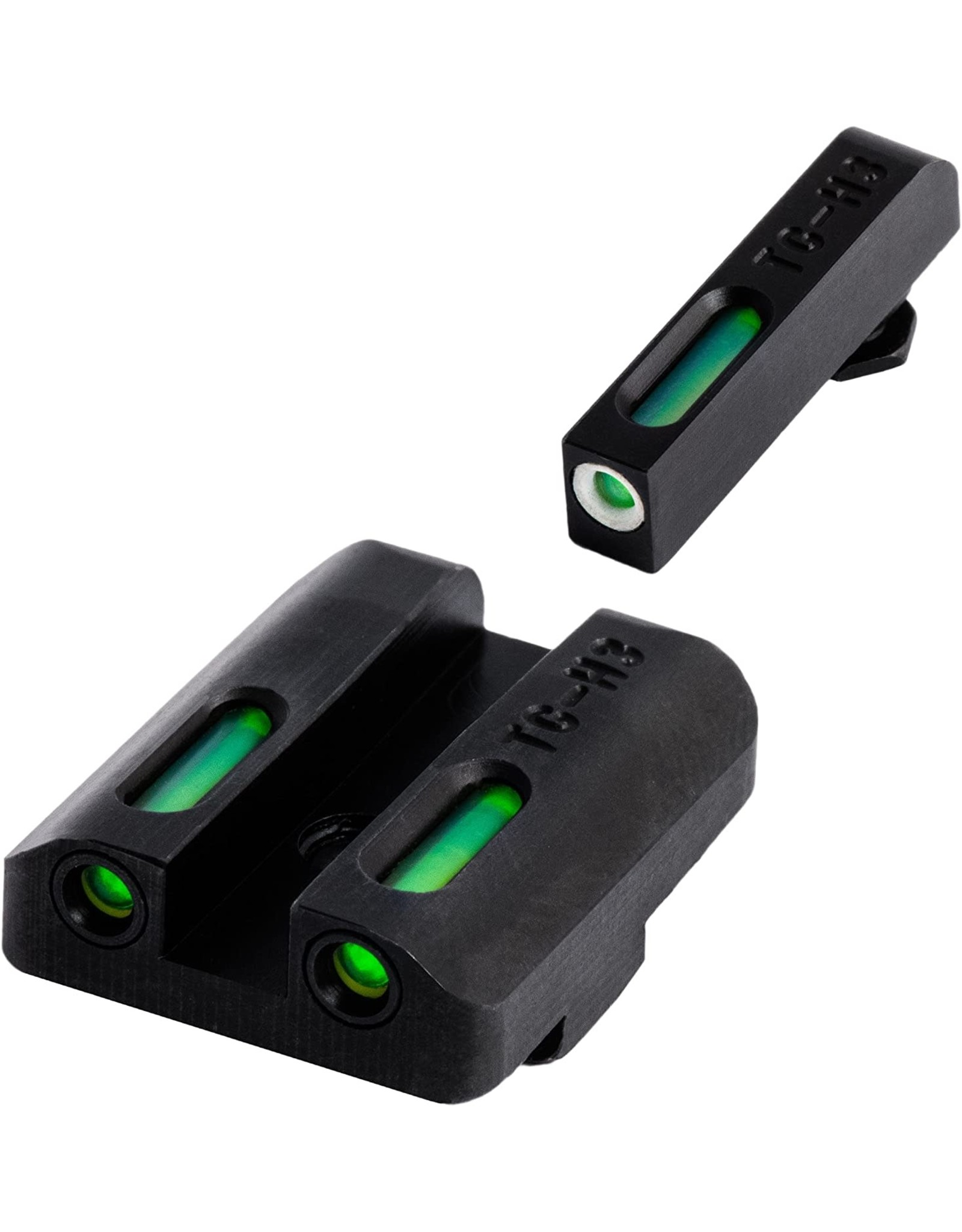 TruGlo TruGlo TFX Glock Low Set (G19/G17/+), Tritium+Fiber Optic - Green/Green/White