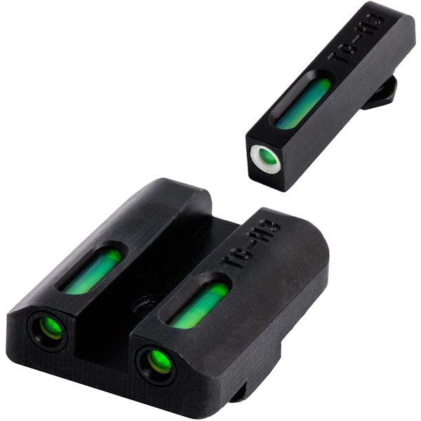 TruGlo TruGlo TFX Glock Low Set (G19/G17/+), Tritium+Fiber Optic - Green/Green/White