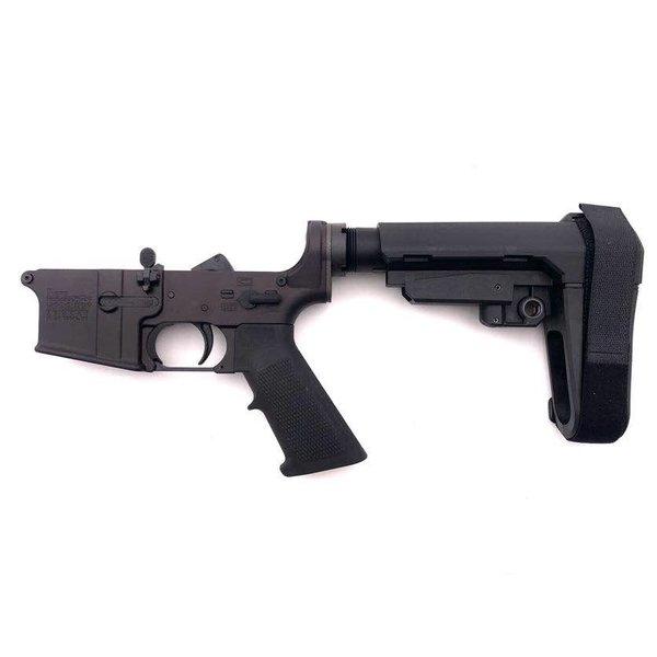 New Frontier Armory New Frontier AR15 Complete Lower Receiver w/SBA3 Pistol Brace - Anodized Black