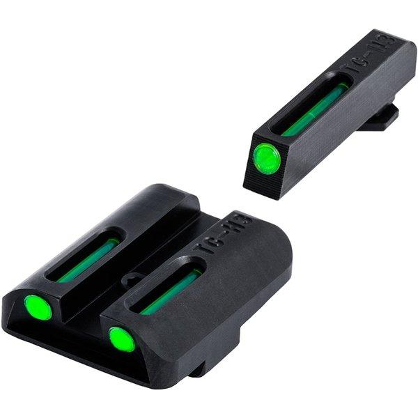 TruGlo TruGlo TFO Glock Low Set (G19/G17/+), Tritium+Fiber Optic - Green/Green
