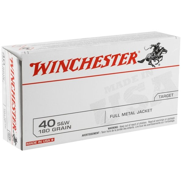 IN STORE ONLY - Winchester 40 S&W 180 Grain Full Metal Jacket Q-Loads - 50 rnds