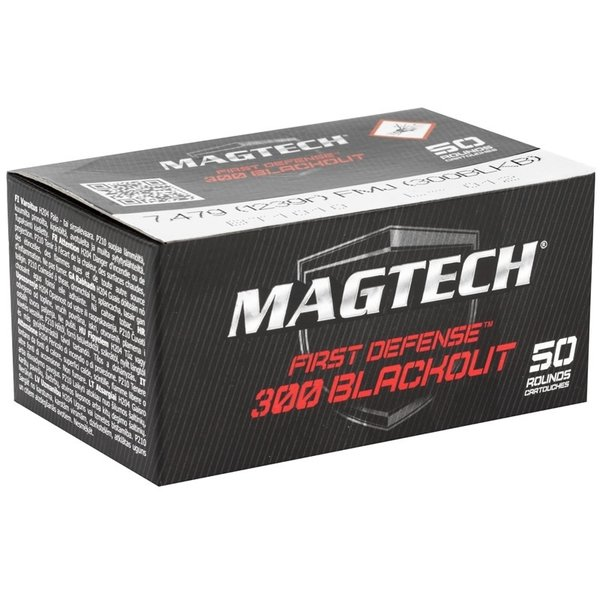 Copy of MagTech First Defense 300 AAC Blackout 123 Grain Supersonic Full Metal Jacket - 50 rnd