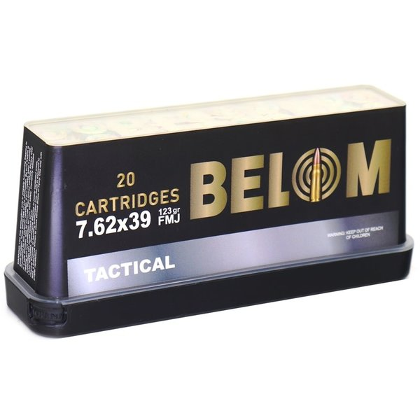 IN STORE ONLY - Belom Tactical 7.62x39mm Ammo 123 Grain Full Metal Jacket - 20 rnd