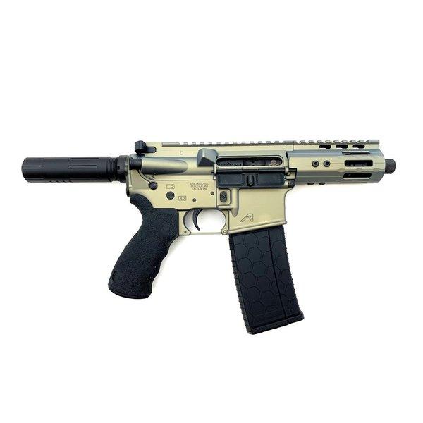 "Sam Diego  AR15 Pistol, 5.56 NATO, 4.75"", Privateer - Iridium Cerakote"