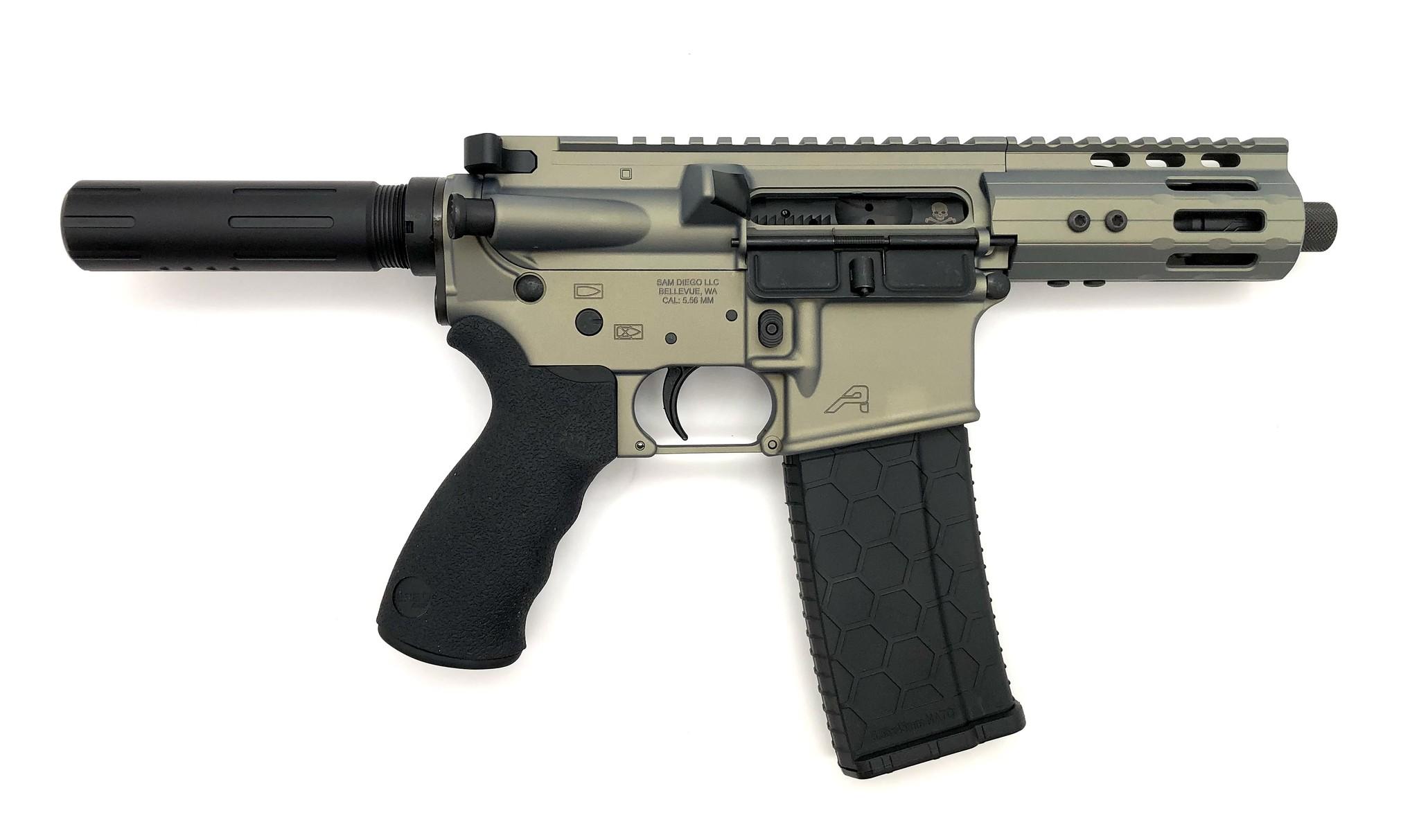 "4.75"" Sam Diego AR15 Privateer Pistol_Iridium"