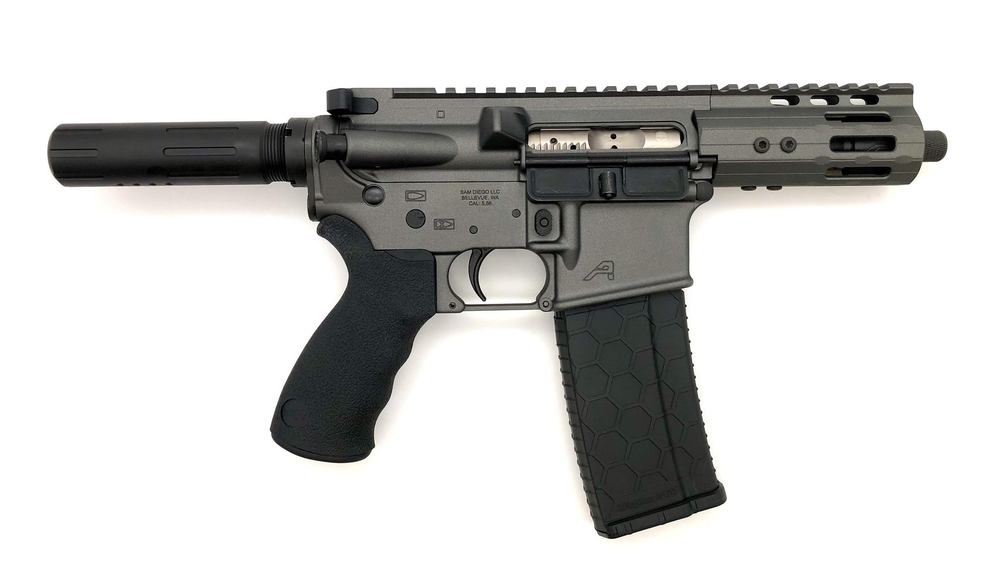 """4.75"""" Sam Diego AR15 Privateer Pistol_Tungsten 2"""