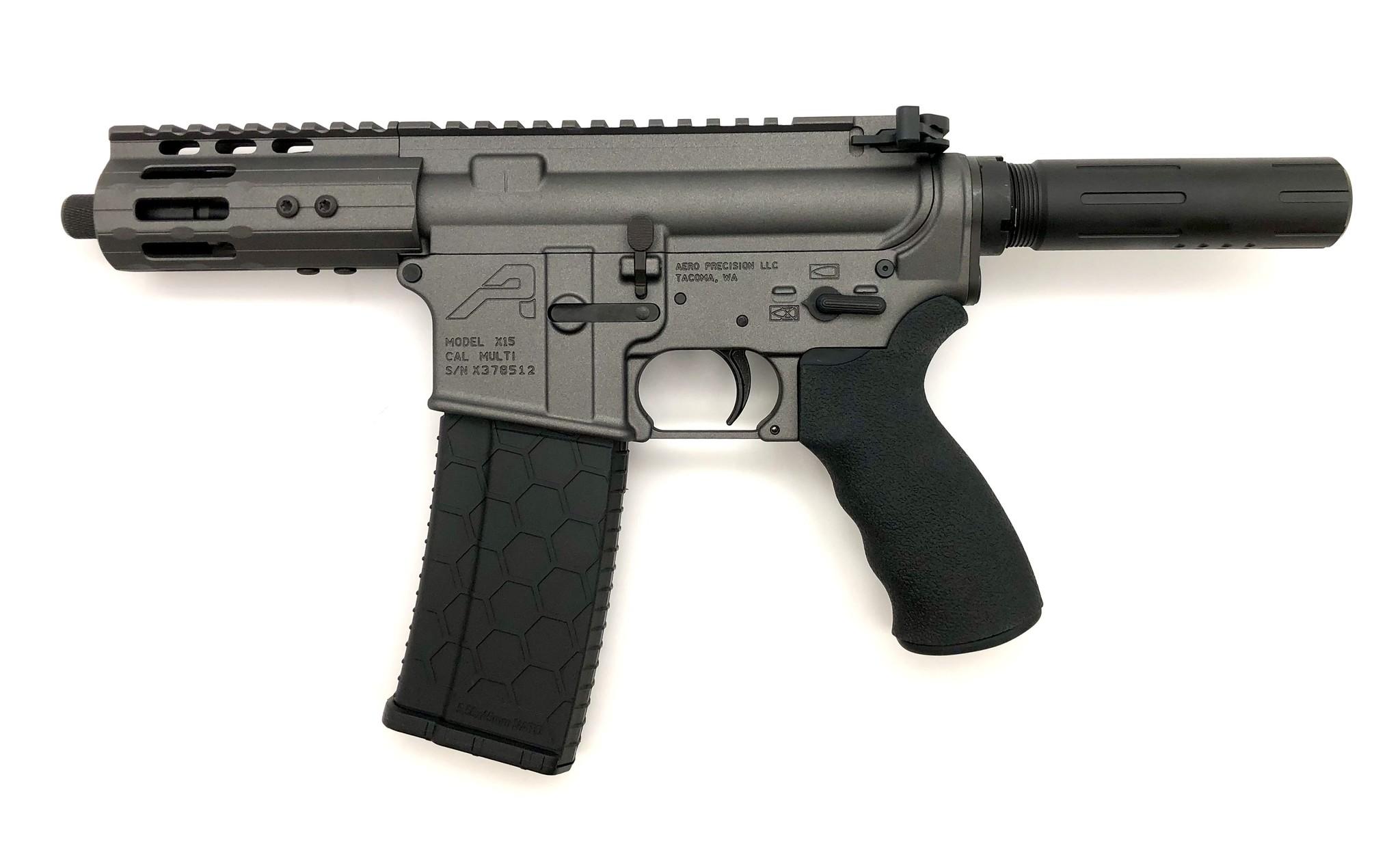 """4.75"""" Sam Diego AR15 Privateer Pistol_Tungsten"""