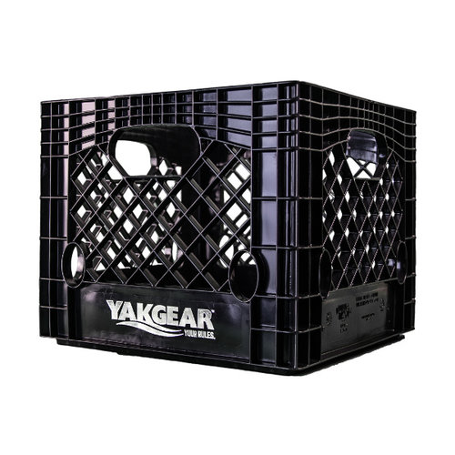 "Yak Gear BLACK 13"" X 13"" MILK CRATE (SQUARE)"
