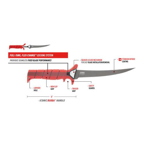 Bubba Blade MULTI-FLEX INTERCHANGEABLE  Fillet Knife Set