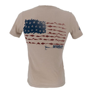 Snatch American Fish Flag T-Shirt Men's