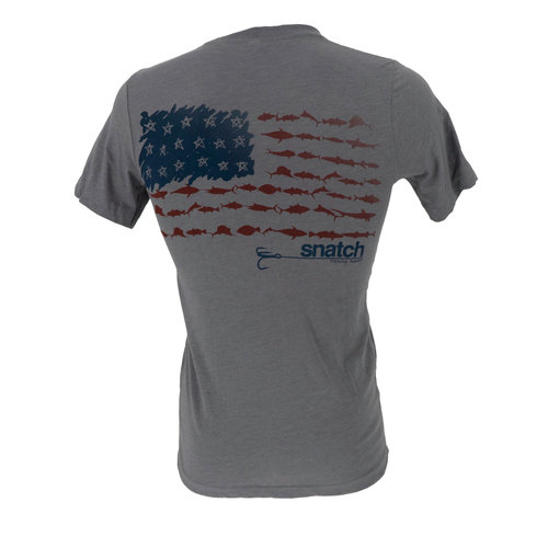 Snatch American Fish Flag T-Shirt Men's