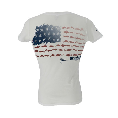 Snatch American Fish Flag T-Shirt Women's