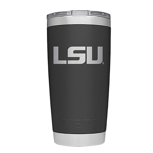 Yeti LSU RAMBLER 20 OZ TUMBLER WITH MAGSLIDER LID Black