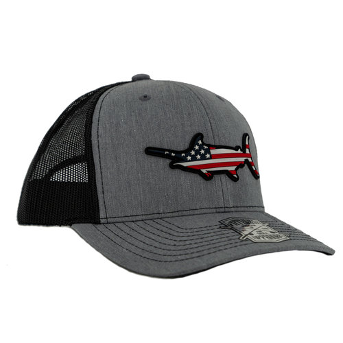 Fathom Offshore Stars and Bars Truckers Cap Charcoal HA70CHL