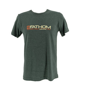 Fathom Offshore Old Red T Shirt / Heather Forest