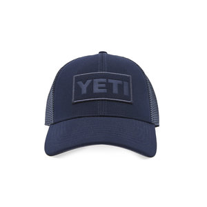 Yeti Navy on Navy Patch Trucker Hat