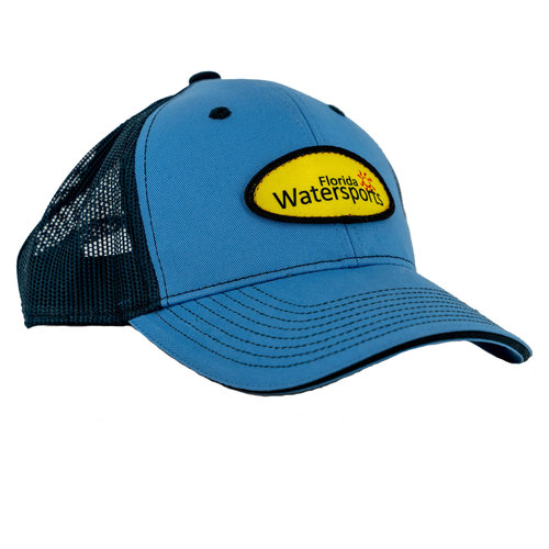 Florida Water Sports FWS Hat Blue With Yellow Patch