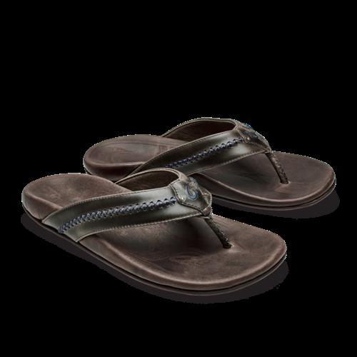 Olukai Mea Ola Men's Leather Beach Sandals
