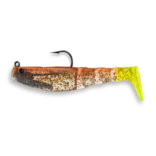 Egret Baits 04 Vudu Mambo Mullet Copper Penny/Chart Tail 3.5 inch 1/4 oz (2pk)