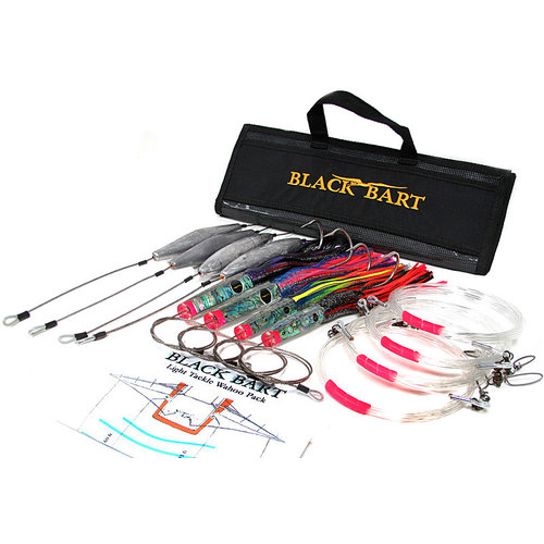 Black Bart WAHOO RIGGED LIGHT PACK 30-50 lb TACKLE  Double Hook