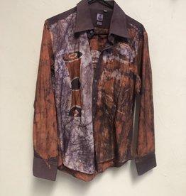 Orange/Purple/white/brown Shirt  long sleeve shirt