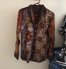 orange/purple/brown/mustard/white tye dye shirts
