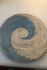 Large Blue Coaster for Plates