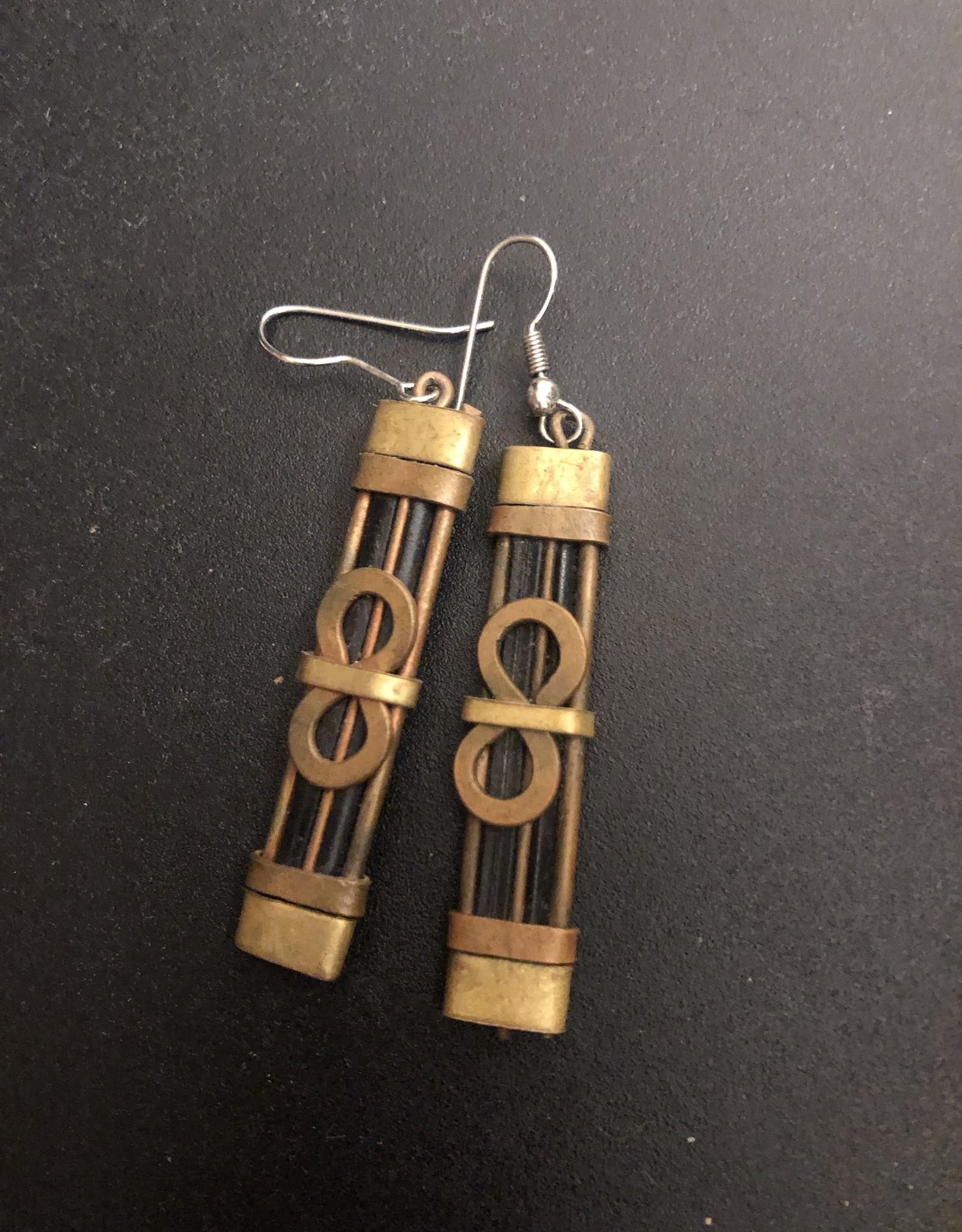 Copper Infinity Earrings