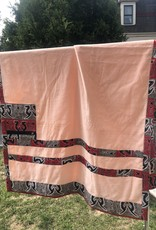 Beautiful soft Salmon colored towel with zipper pocket