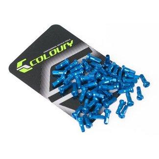 Niple De Aluminio 14g Azul (50 Pcs)