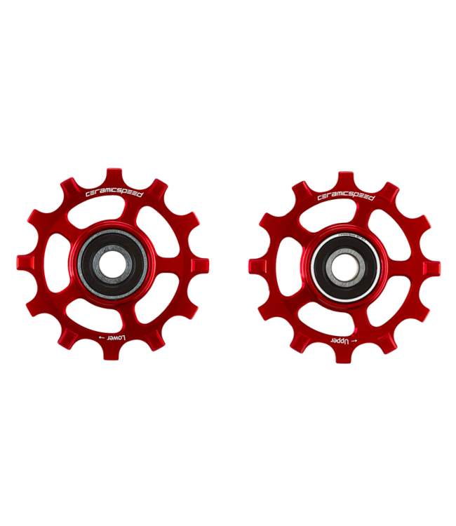 Ceramic speed PULLEY WHEELS SRAM AXS 12S ROAD RED COATED
