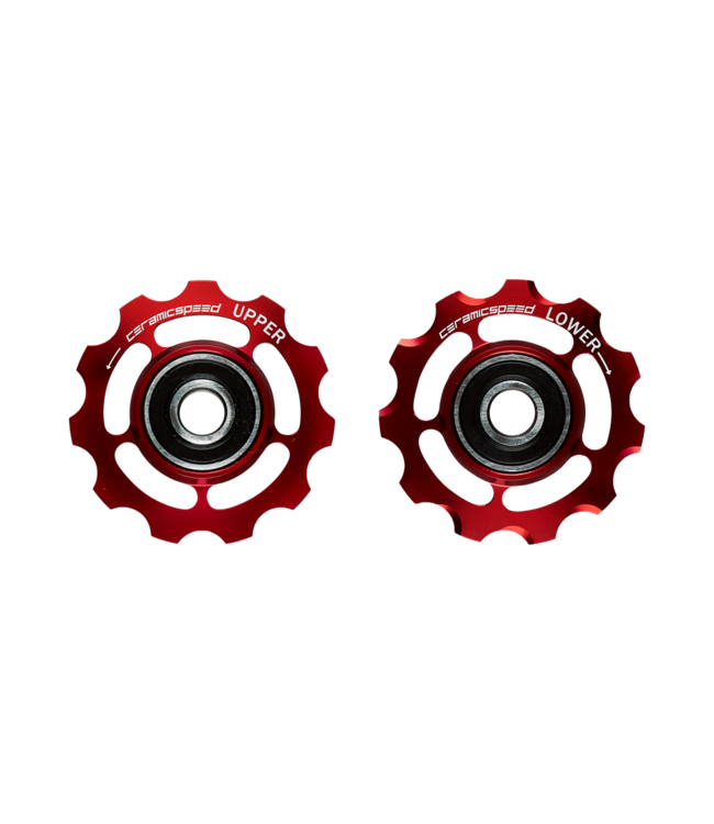 Ceramic speed PULLEY WHEELS 9-10 SPEED  SHIMANO RED NON COATED