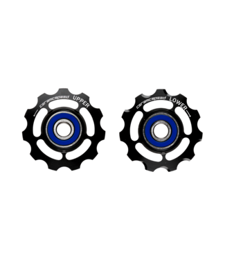 Ceramic speed PULLEY WHEELS, SHIMANO 11S ROAD & MTB BLK STANDARD