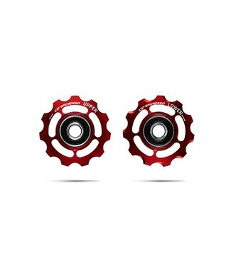Ceramic speed PULLEY WHEELS SHIMANO 11S ROAD & MTB RED STANDARD