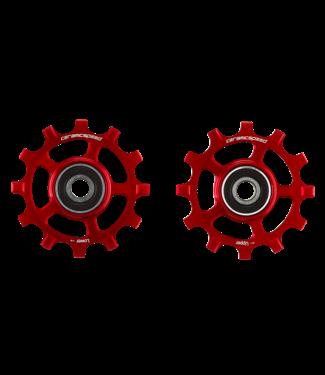 Ceramic speed GALETS SRAM AXS 12S ROAD ROUGE STANDARD