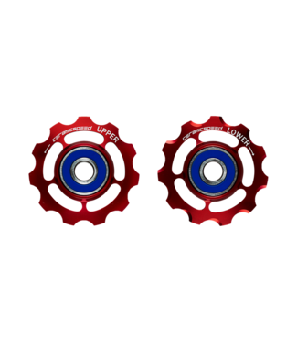 Ceramic speed PULLEY WHEEL SRAM 9+10 SPEED RED STANDARD