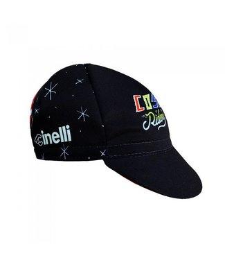 """Cinelli CAP SERGIO MORA """"COSMIC RIDER"""" BLACK"""