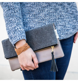 Ahlam Leather Clutch
