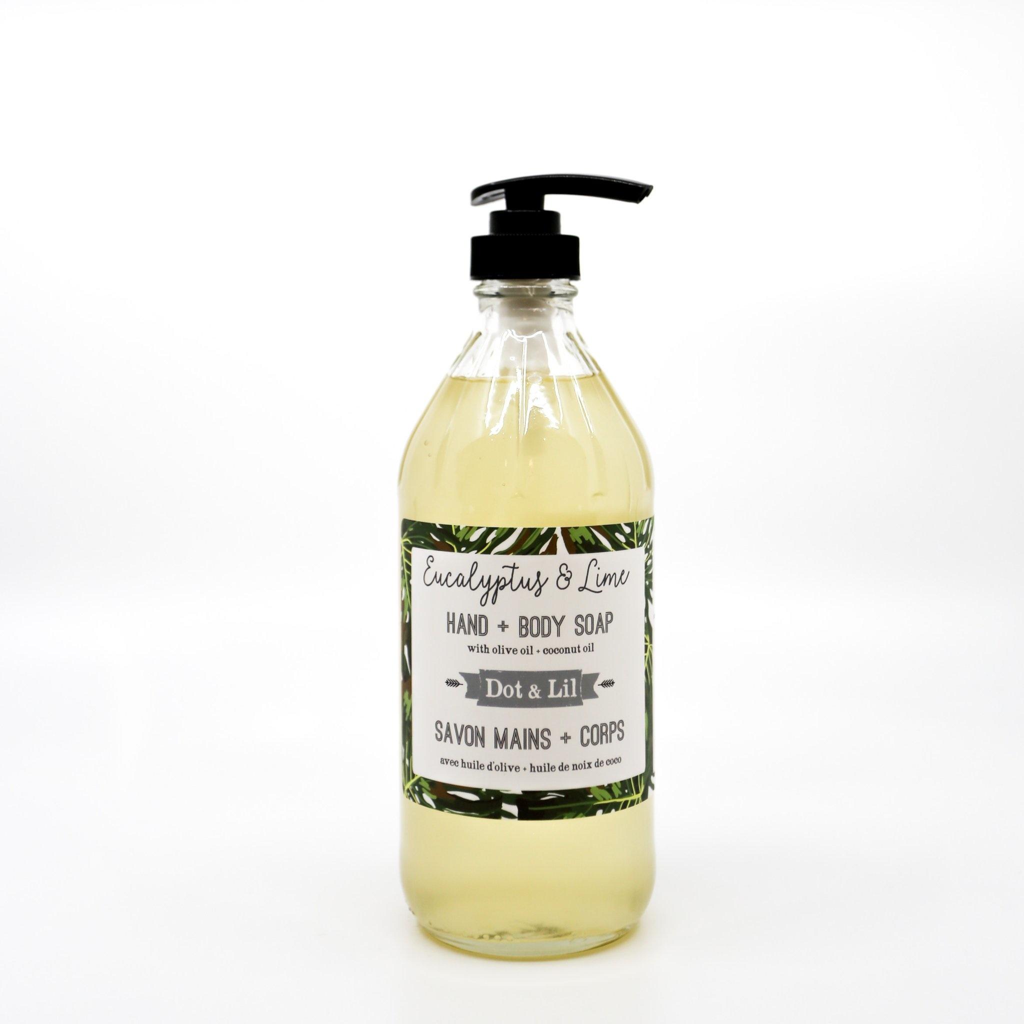 Dot and Lil Savon liquide eucalyptus & lime