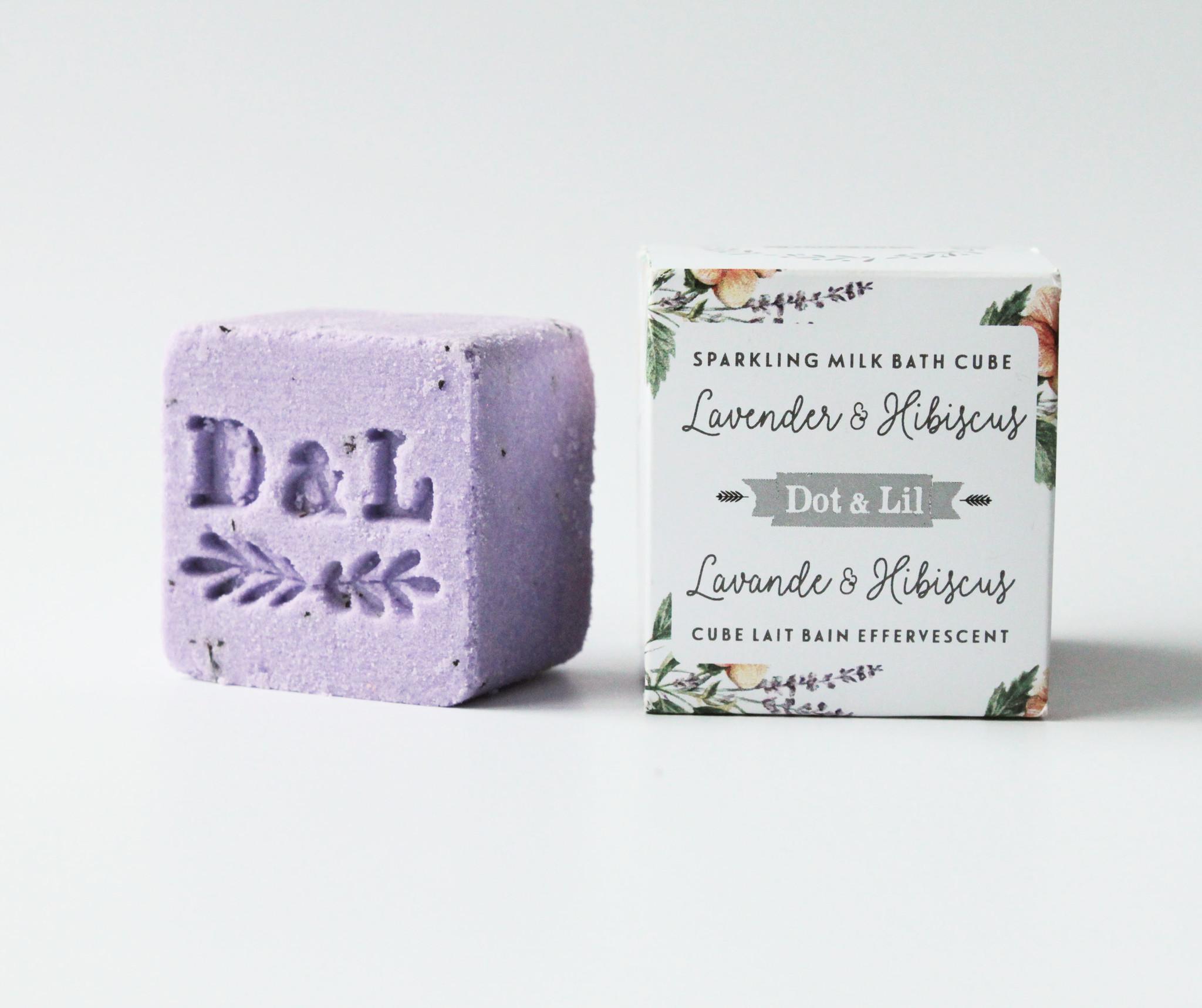 Dot and Lil Cube lait bain effervescent  lavande et hibiscus