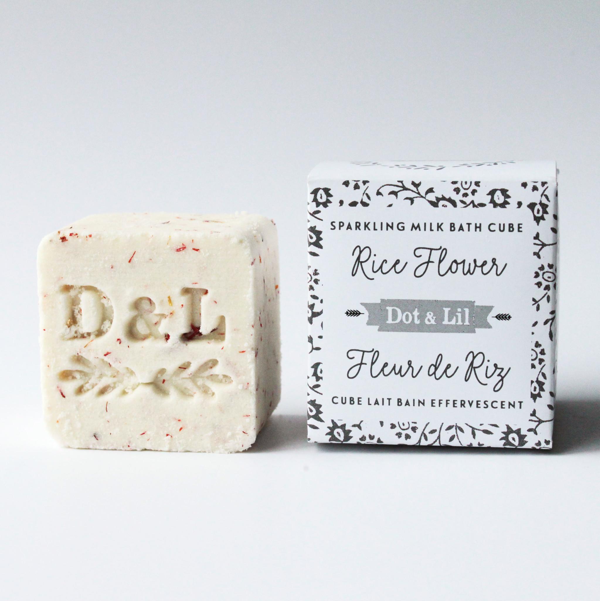 Dot and Lil Cube lait bain effervescent  Fleur de riz