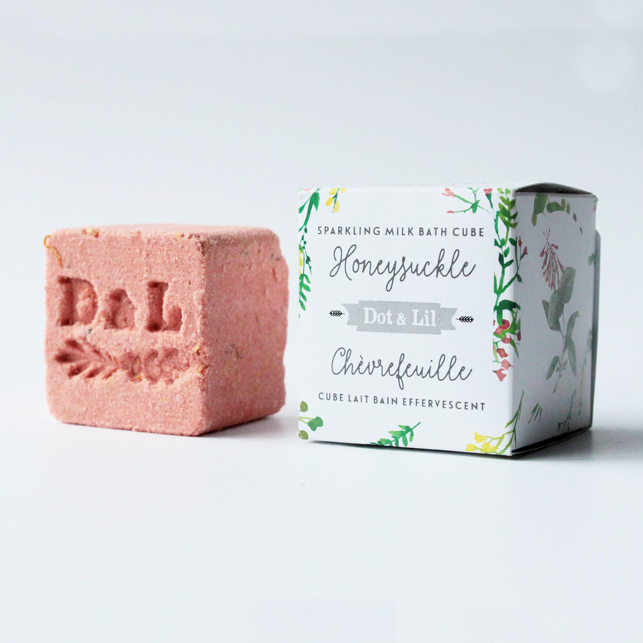 Dot and Lil Cube lait bain effervescent  chèvrefeuille