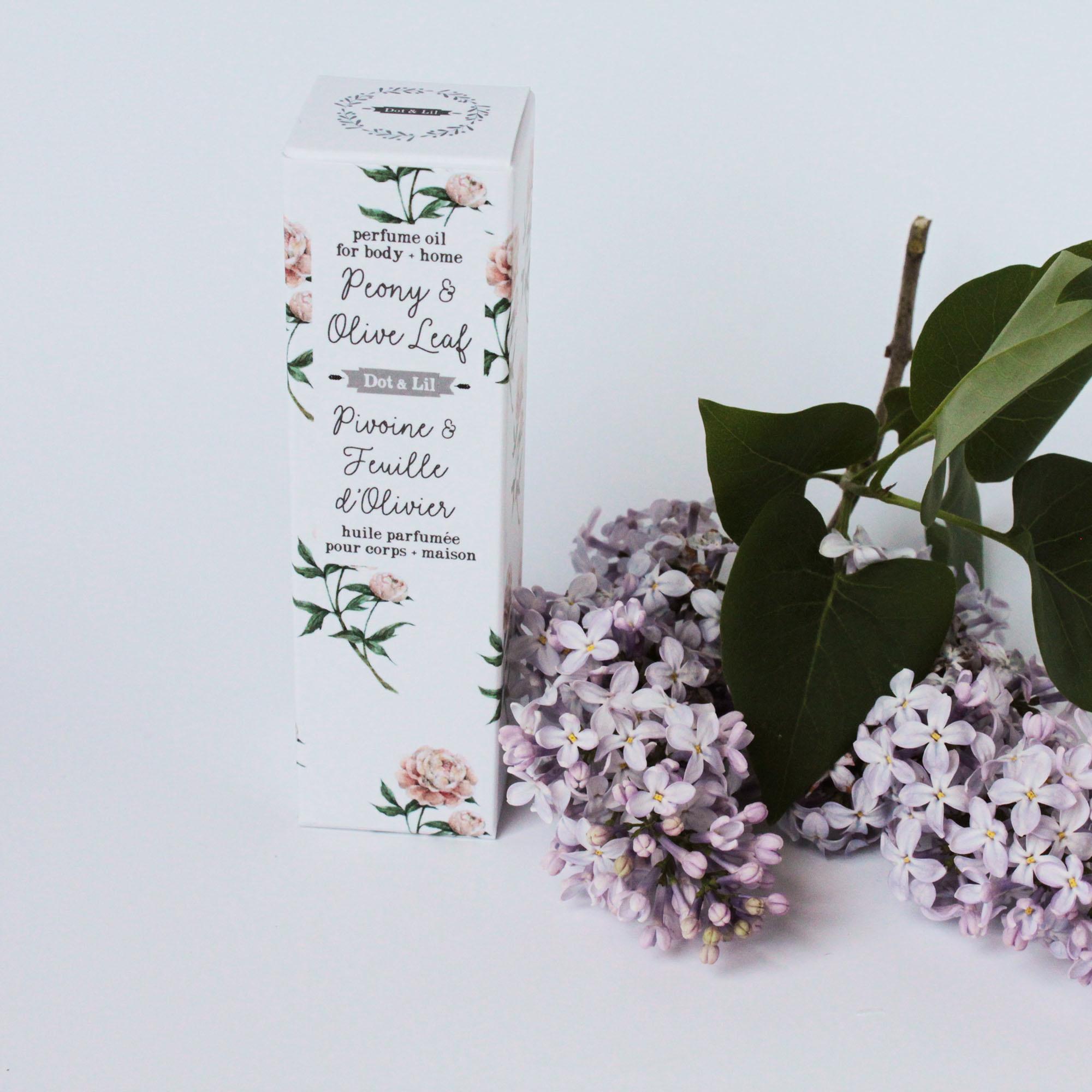 Dot and Lil Huile de parfum pivoine et fleur d'olivier