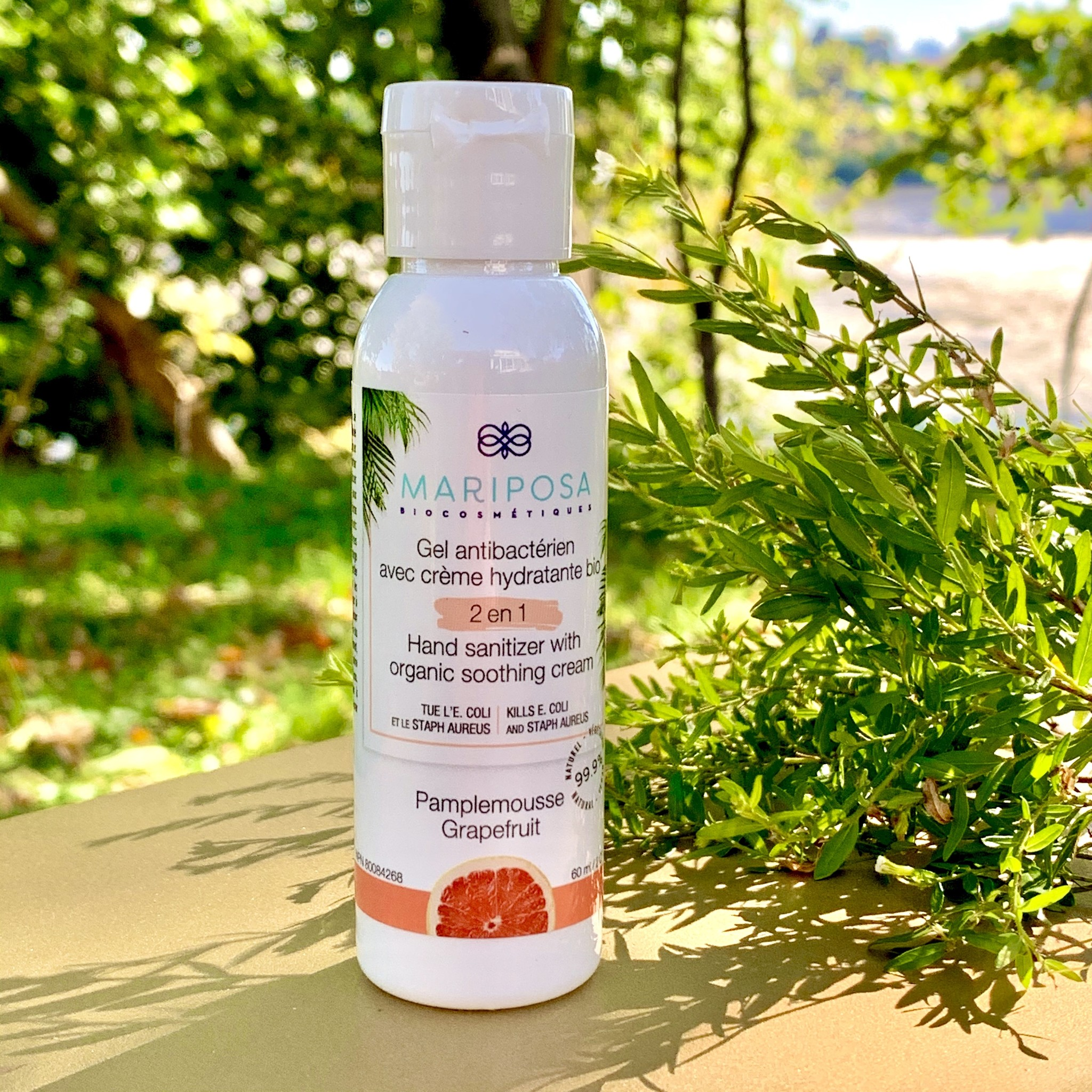 Mariposa Gel antibactérien pamplemousse 60 ml