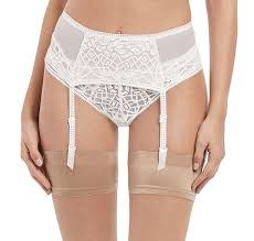 FREYA SOIREE LACE SUSPENDER WH